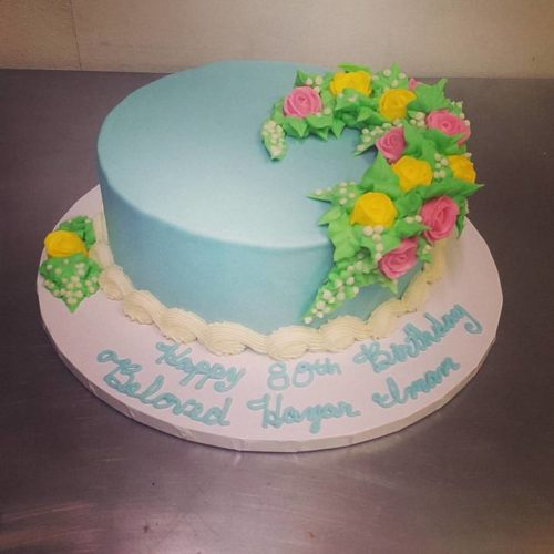 Flowered Birthday Cake