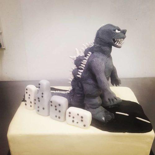 Birthday Godzilla Cake