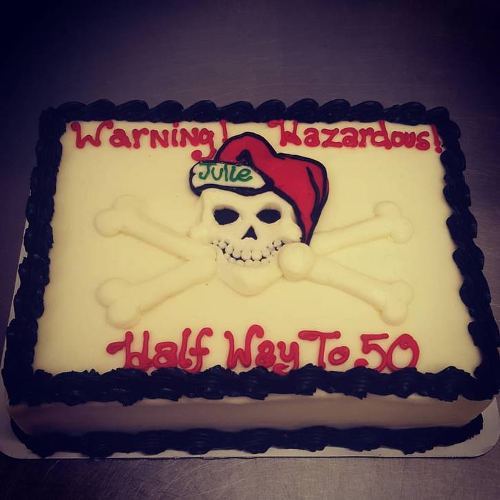 Hazardous Birthday Cake