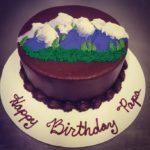 Mountain Birthday Cake