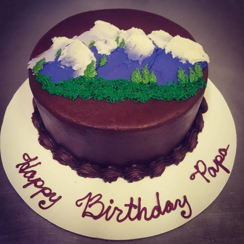 Mountain Birthday Cake
