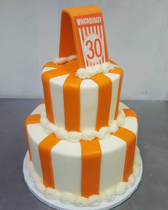 Whatburger's 30th Birthday Cake