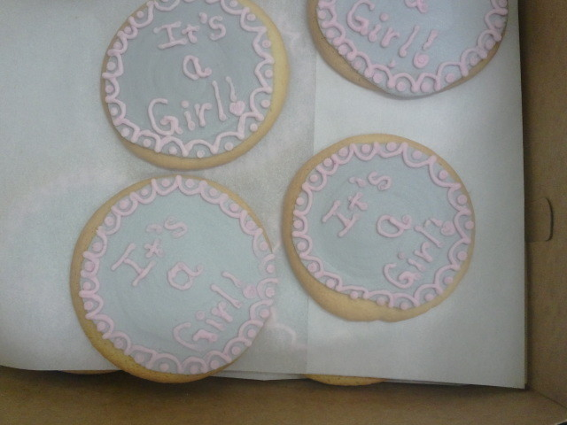It's a Girl Cookie