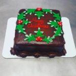 Holly Christmas Cake