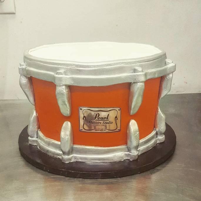 Custom Drum Cake