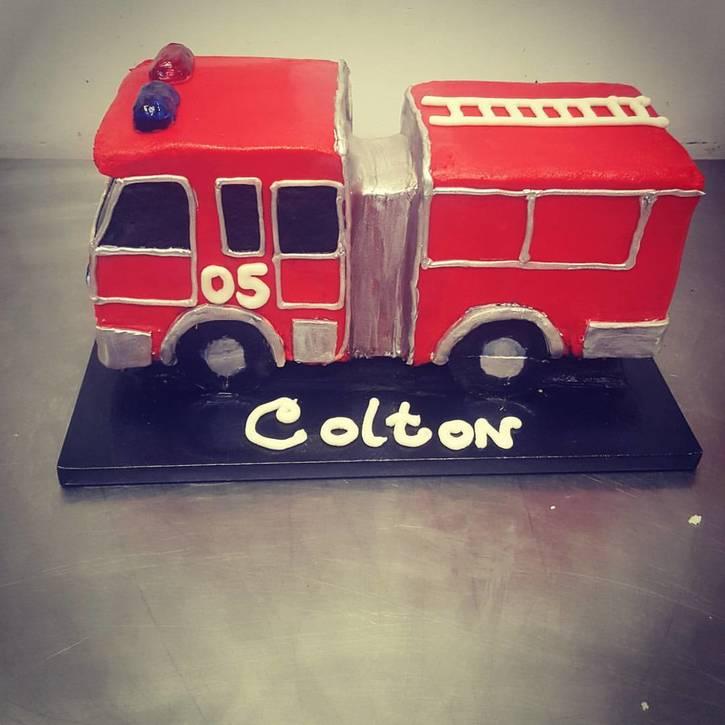 Custom Firetruck Cake